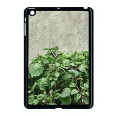 Plants Against Concrete Wall Background Apple iPad Mini Case (Black)