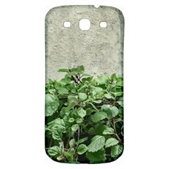 Plants Against Concrete Wall Background Samsung Galaxy S3 S III Classic Hardshell Back Case