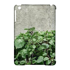 Plants Against Concrete Wall Background Apple iPad Mini Hardshell Case (Compatible with Smart Cover)