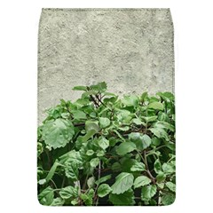 Plants Against Concrete Wall Background Flap Covers (L)