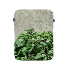 Plants Against Concrete Wall Background Apple iPad 2/3/4 Protective Soft Cases