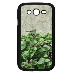 Plants Against Concrete Wall Background Samsung Galaxy Grand DUOS I9082 Case (Black)