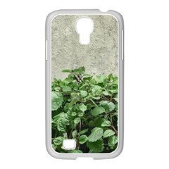 Plants Against Concrete Wall Background Samsung GALAXY S4 I9500/ I9505 Case (White)