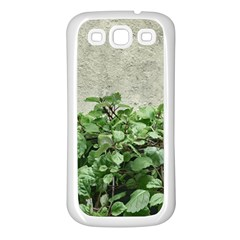 Plants Against Concrete Wall Background Samsung Galaxy S3 Back Case (White)