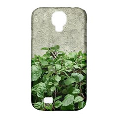Plants Against Concrete Wall Background Samsung Galaxy S4 Classic Hardshell Case (PC+Silicone)