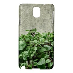 Plants Against Concrete Wall Background Samsung Galaxy Note 3 N9005 Hardshell Case