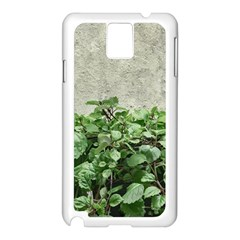 Plants Against Concrete Wall Background Samsung Galaxy Note 3 N9005 Case (White)