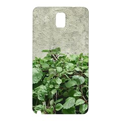 Plants Against Concrete Wall Background Samsung Galaxy Note 3 N9005 Hardshell Back Case