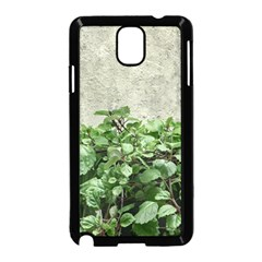Plants Against Concrete Wall Background Samsung Galaxy Note 3 Neo Hardshell Case (black)