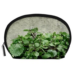 Plants Against Concrete Wall Background Accessory Pouches (Large)