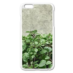 Plants Against Concrete Wall Background Apple iPhone 6 Plus/6S Plus Enamel White Case