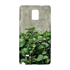 Plants Against Concrete Wall Background Samsung Galaxy Note 4 Hardshell Case