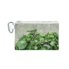 Plants Against Concrete Wall Background Canvas Cosmetic Bag (S)