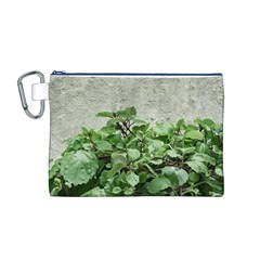 Plants Against Concrete Wall Background Canvas Cosmetic Bag (M)