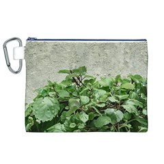 Plants Against Concrete Wall Background Canvas Cosmetic Bag (XL)