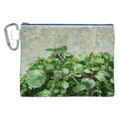 Plants Against Concrete Wall Background Canvas Cosmetic Bag (XXL)