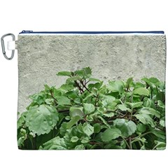 Plants Against Concrete Wall Background Canvas Cosmetic Bag (XXXL)