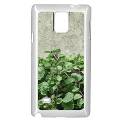 Plants Against Concrete Wall Background Samsung Galaxy Note 4 Case (White)