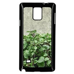 Plants Against Concrete Wall Background Samsung Galaxy Note 4 Case (Black)