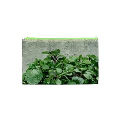 Plants Against Concrete Wall Background Cosmetic Bag (XS)