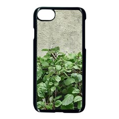 Plants Against Concrete Wall Background Apple iPhone 7 Seamless Case (Black)