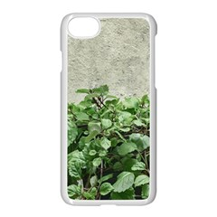 Plants Against Concrete Wall Background Apple iPhone 7 Seamless Case (White)