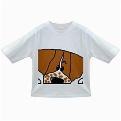 Peeping Brittany Spaniel Infant/Toddler T-Shirts