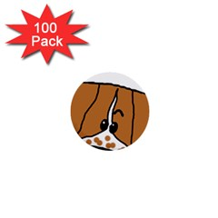 Peeping Brittany Spaniel 1  Mini Buttons (100 pack)