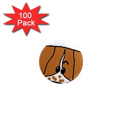 Peeping Brittany Spaniel 1  Mini Magnets (100 pack)