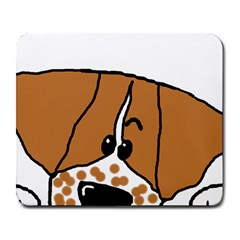 Peeping Brittany Spaniel Large Mousepads