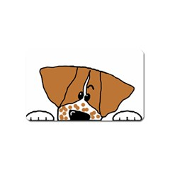 Peeping Brittany Spaniel Magnet (Name Card)