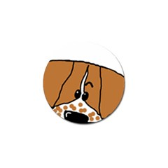 Peeping Brittany Spaniel Golf Ball Marker (4 pack)