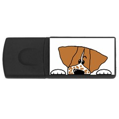 Peeping Brittany Spaniel USB Flash Drive Rectangular (1 GB)