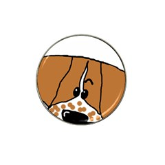Peeping Brittany Spaniel Hat Clip Ball Marker (4 pack)