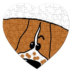 Peeping Brittany Spaniel Jigsaw Puzzle (Heart)