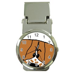 Peeping Brittany Spaniel Money Clip Watches
