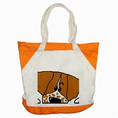 Peeping Brittany Spaniel Accent Tote Bag