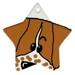 Peeping Brittany Spaniel Star Ornament (Two Sides)
