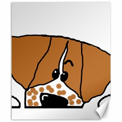 Peeping Brittany Spaniel Canvas 8  x 10