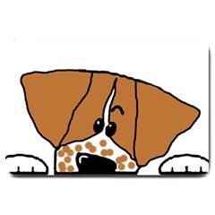 Peeping Brittany Spaniel Large Doormat