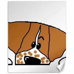 Peeping Brittany Spaniel Canvas 11  x 14