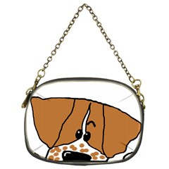 Peeping Brittany Spaniel Chain Purses (Two Sides)