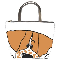 Peeping Brittany Spaniel Bucket Bags