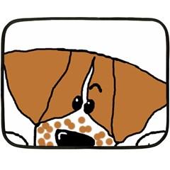 Peeping Brittany Spaniel Double Sided Fleece Blanket (Mini)