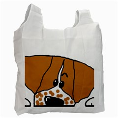 Peeping Brittany Spaniel Recycle Bag (One Side)