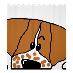 Peeping Brittany Spaniel Shower Curtain 66  x 72  (Large)