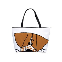 Peeping Brittany Spaniel Shoulder Handbags