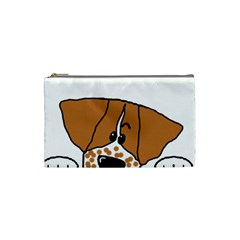 Peeping Brittany Spaniel Cosmetic Bag (Small)