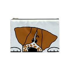 Peeping Brittany Spaniel Cosmetic Bag (Medium)
