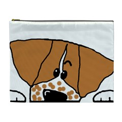Peeping Brittany Spaniel Cosmetic Bag (XL)